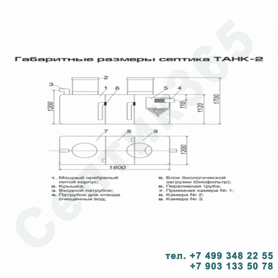 Схема септик Танк 2