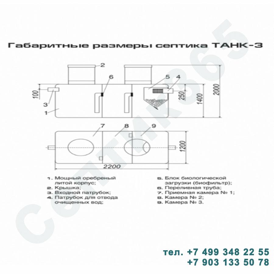 Схема септик Танк 3