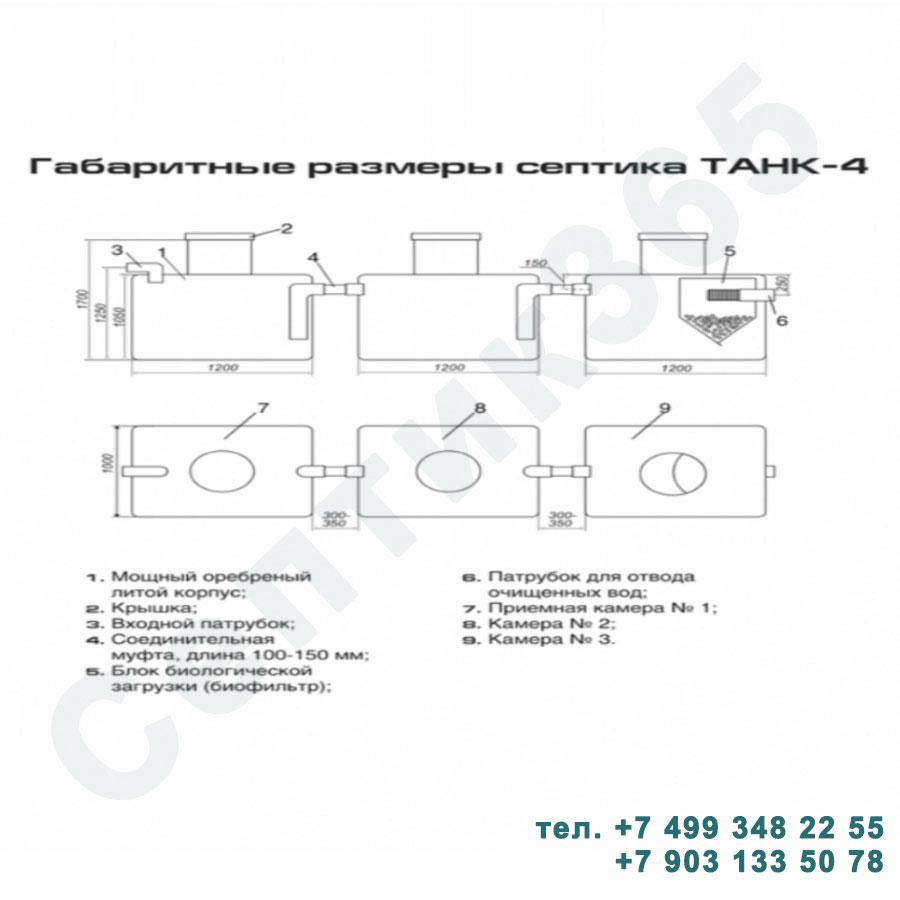 Схема септик Танк 4