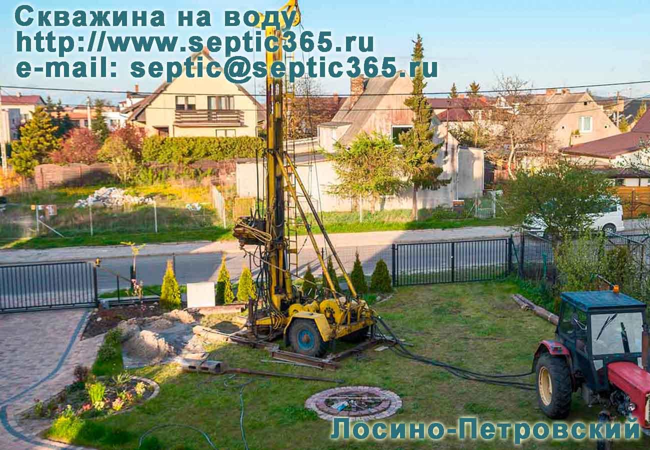 Скважина на воду Лосино-Петровский Московская область