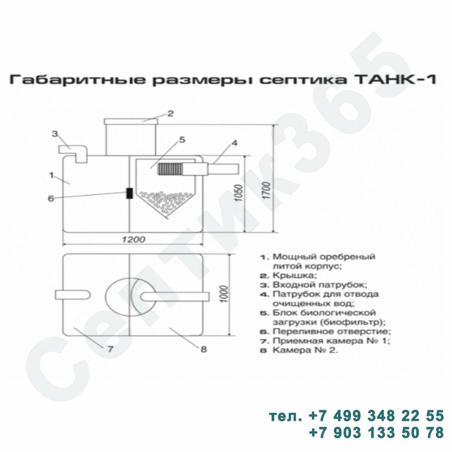 Схема септик Танк 1